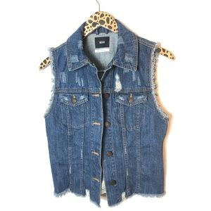 Urban Outfitters | BDG distressed denim vest Sz S